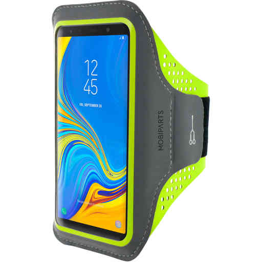 Mobiparts Comfort Fit Sport Armband Samsung Galaxy A7 (2018) Neon Green