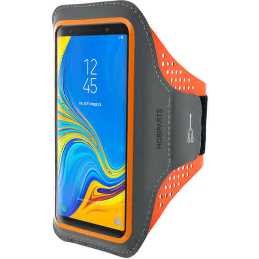 Mobiparts Comfort Fit Sport Armband Samsung Galaxy A7 (2018) Neon Orange