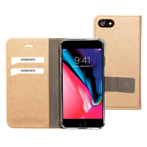 Mobiparts Saffiano Wallet Case Apple iPhone 7/8/SE (2020) Copper