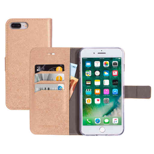 Mobiparts Saffiano Wallet Case Apple iPhone 7 Plus/8 Plus Copper