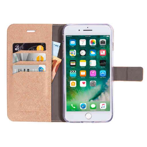 Mobiparts Saffiano Wallet Case Apple iPhone 7 Plus/8 Plus Copper