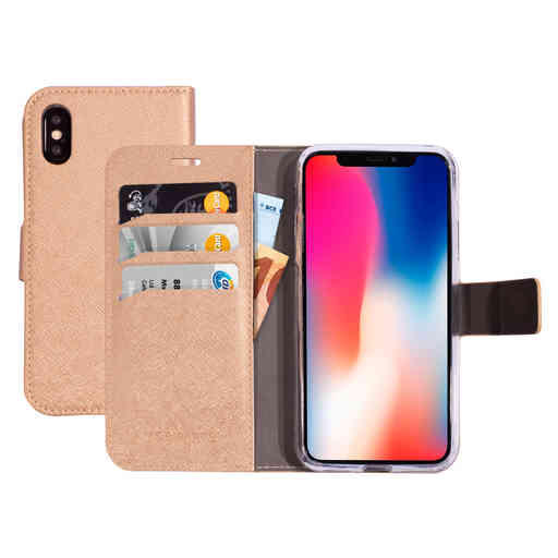 Mobiparts Saffiano Wallet Case Apple iPhone X/XS Copper