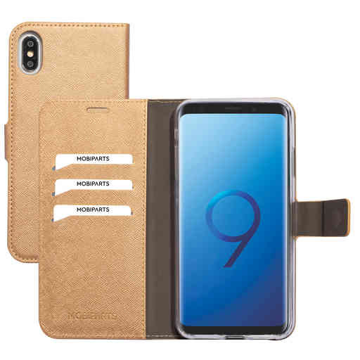 Mobiparts Saffiano Wallet Case Apple iPhone XS Max Copper