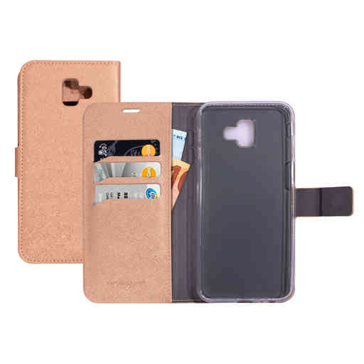 Mobiparts Saffiano Wallet Case Samsung Galaxy J6 Plus (2018) Copper