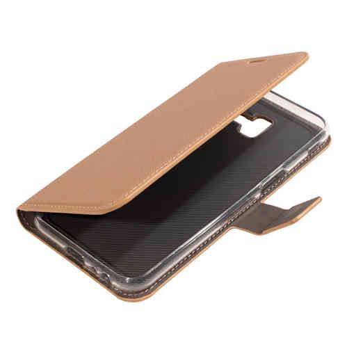Mobiparts Saffiano Wallet Case Samsung Galaxy J6 Plus (2018) Copper