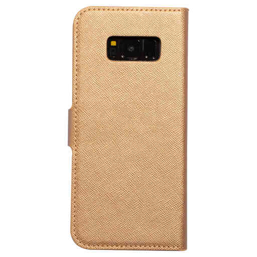 Mobiparts Saffiano Wallet Case Samsung Galaxy S8  Copper