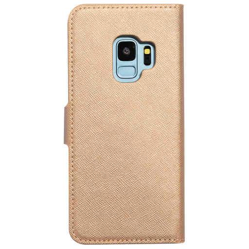 Mobiparts Saffiano Wallet Case Samsung Galaxy S9 Copper