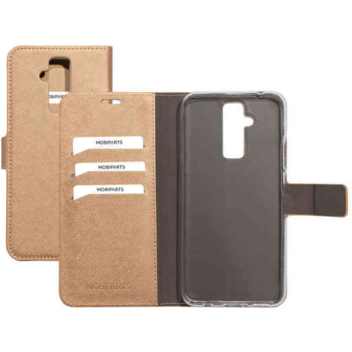 Mobiparts Saffiano Wallet Case Huawei Mate 20 Lite Copper