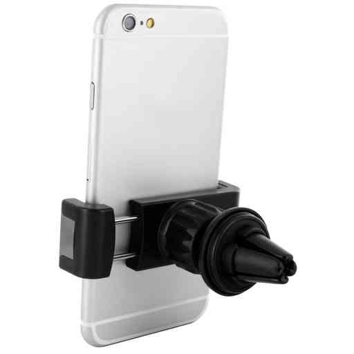 Mobiparts Car Pack Universal Vent Holder 2.4A + Lightning Cable Black