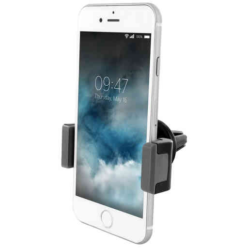 Mobiparts Car Pack Universal Vent Holder 2.4A + USB-C Cable Black