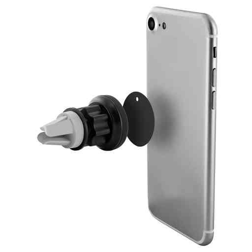 Mobiparts Car Pack Magnetic Vent Holder 2.4A + Lightning Cable Black