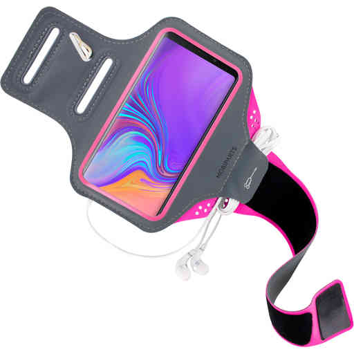 Mobiparts Comfort Fit Sport Armband Samsung Galaxy A9 (2018) Neon Pink