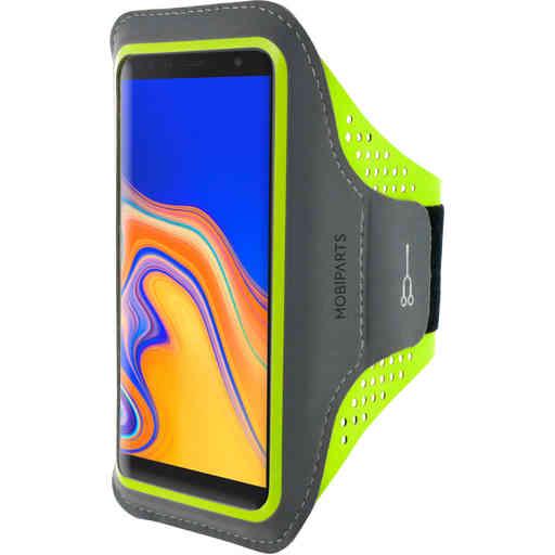 Mobiparts Comfort Fit Sport Armband Samsung Galaxy J6 Plus (2018) Neon Green