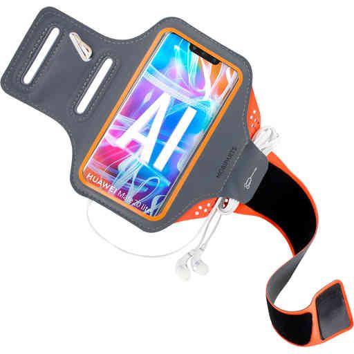 Mobiparts Comfort Fit Sport Armband Huawei Mate 20 Lite Neon Orange