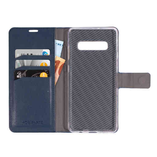 Mobiparts Classic Wallet Case Samsung Galaxy S10 Plus Blue