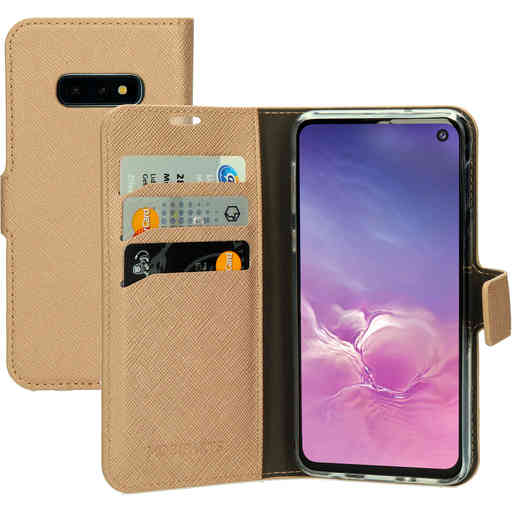 Mobiparts Saffiano Wallet Case Samsung Galaxy S10e  Copper
