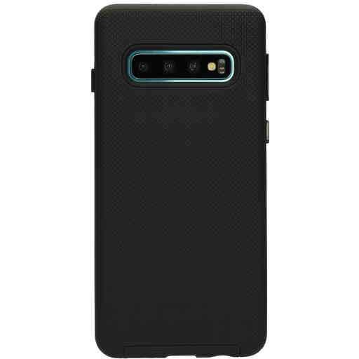 Mobiparts Rugged Tough Grip Case Samsung Galaxy S10 Black