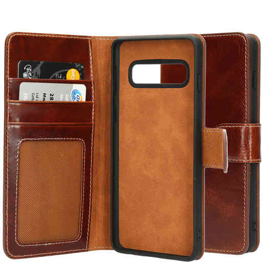 Mobiparts Excellent Wallet Case 2.0 Samsung Galaxy S10 Oaked Cognac