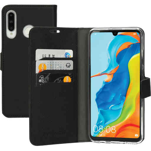 Mobiparts Saffiano Wallet Case Huawei P30 Lite Black