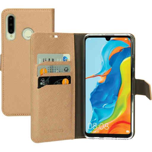 Mobiparts Saffiano Wallet Case Huawei P30 Lite Copper