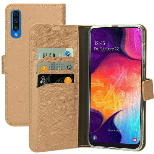 Mobiparts Saffiano Wallet Case Samsung Galaxy A50 (2019) Copper