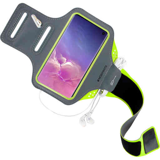 Mobiparts Comfort Fit Sport Armband Samsung Galaxy S10 Neon Green