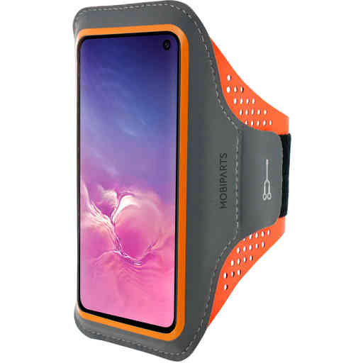 Mobiparts Comfort Fit Sport Armband Samsung Galaxy S10e Neon Orange