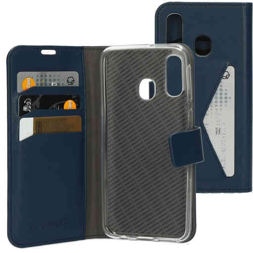 Mobiparts Classic Wallet Case Samsung Galaxy A40 (2019) Blue