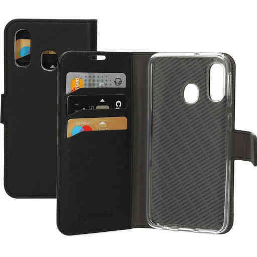 Mobiparts Saffiano Wallet Case Samsung Galaxy A40 (2019) Black