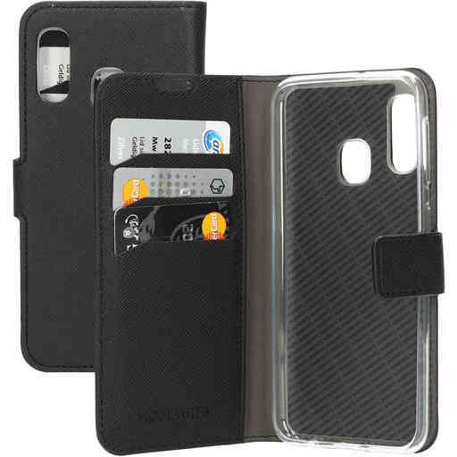 Mobiparts Saffiano Wallet Case Samsung Galaxy A20e (2019) Black