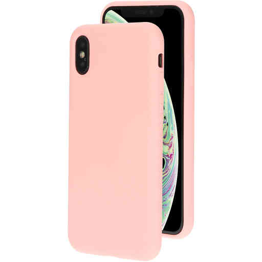 Mobiparts Silicone Cover Apple iPhone X/XS Blossom Pink