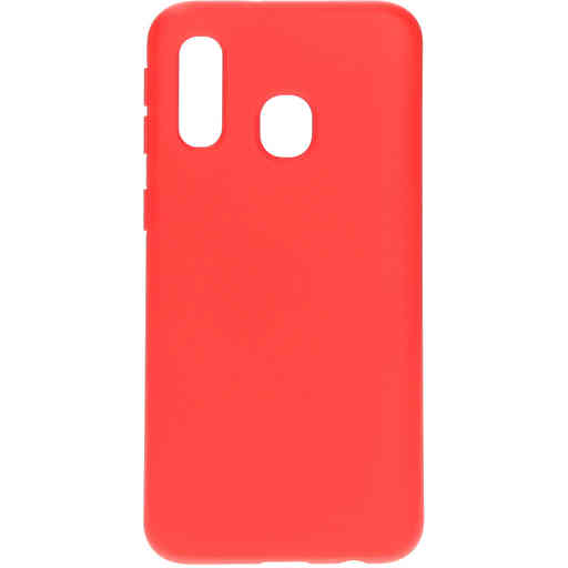 Mobiparts Silicone Cover Samsung Galaxy A40 (2019) Scarlet Red