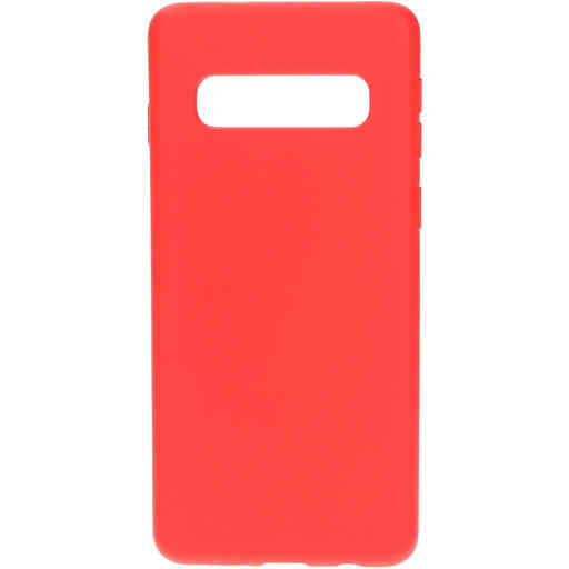 Mobiparts Silicone Cover Samsung Galaxy S10 Scarlet Red