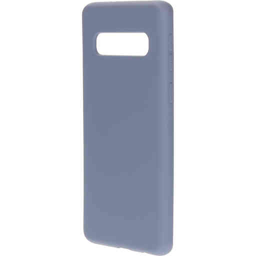 Mobiparts Silicone Cover Samsung Galaxy S10 Royal Grey