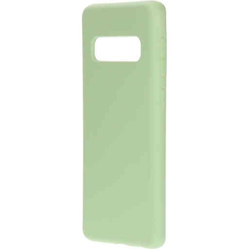 Mobiparts Silicone Cover Samsung Galaxy S10 Pistache Green