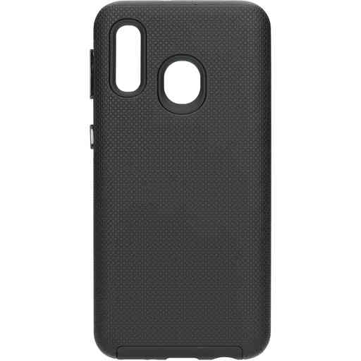 Mobiparts Rugged Tough Grip Case Samsung Galaxy A40 (2019) Black