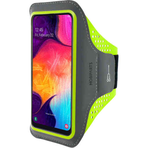 Mobiparts Comfort Fit Sport Armband Samsung Galaxy A40 (2019) Neon Green