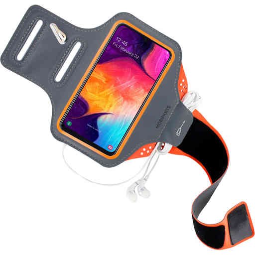 Mobiparts Comfort Fit Sport Armband Samsung Galaxy A40 (2019) Neon Orange