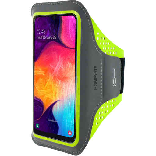 Mobiparts Comfort Fit Sport Armband Samsung Galaxy A50/A30S Neon Green