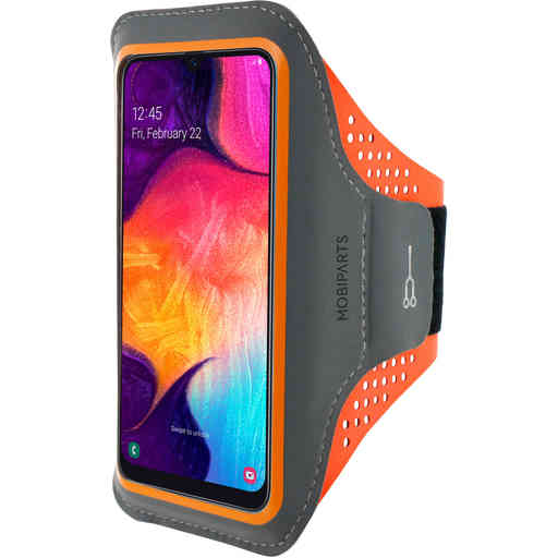 Mobiparts Comfort Fit Sport Armband Samsung Galaxy A50 (2019) Neon Orange