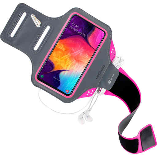Mobiparts Comfort Fit Sport Armband Samsung Galaxy A50/A30S Neon Pink