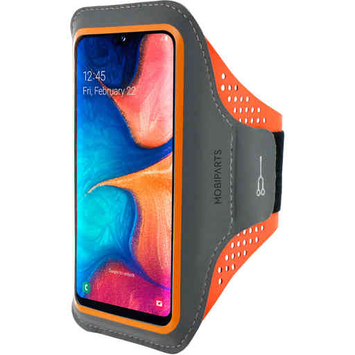 Mobiparts Comfort Fit Sport Armband Samsung Galaxy A20e (2019) Neon Orange