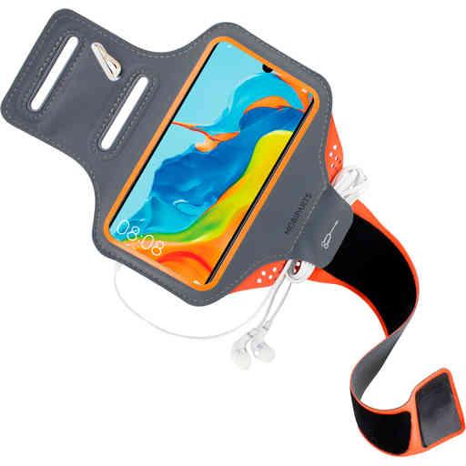 Mobiparts Comfort Fit Sport Armband Huawei P30 Lite Neon Orange