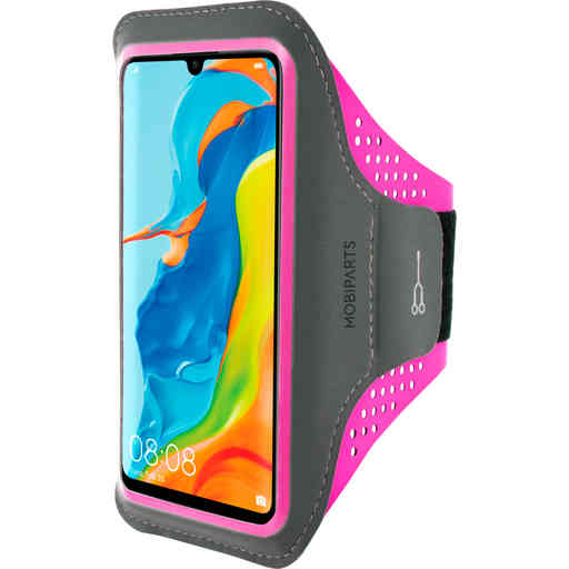 Mobiparts Comfort Fit Sport Armband Huawei P30 Lite Neon Pink