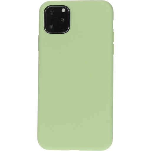Mobiparts Silicone Cover Apple iPhone 11 Pro Max  Pistache Green