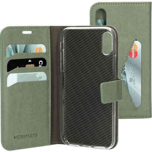 Mobiparts Classic Wallet Case Apple iPhone X/XS Stone Green