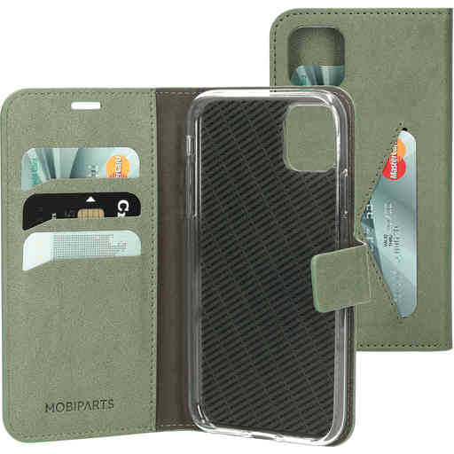 Mobiparts Classic Wallet Case Apple iPhone 11 Pro Stone Green