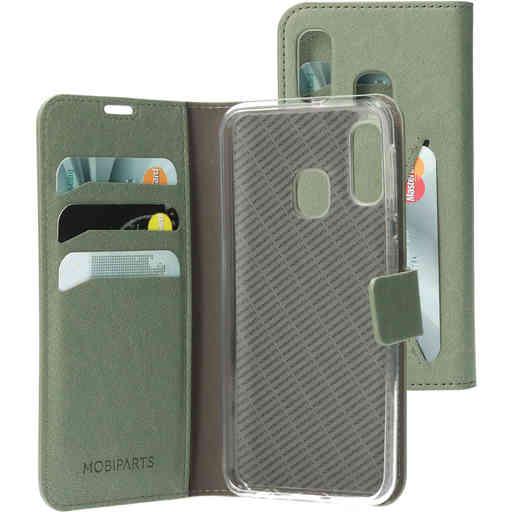 Mobiparts Classic Wallet Case Samsung Galaxy A20e Stone Green