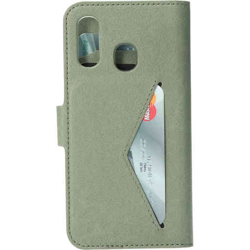 Mobiparts Classic Wallet Case Samsung Galaxy A40 Stone Green