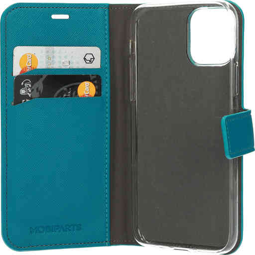 Mobiparts Saffiano Wallet Case Apple iPhone 11 Pro Turquoise